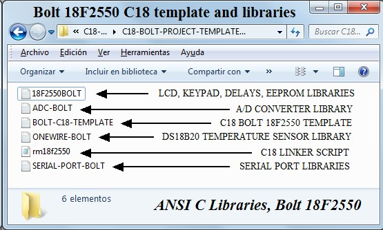 BOLT-18F2550-SYSTEM-C18-TEMPLATES-FUNCTIONS-TEST-PROGRAMS